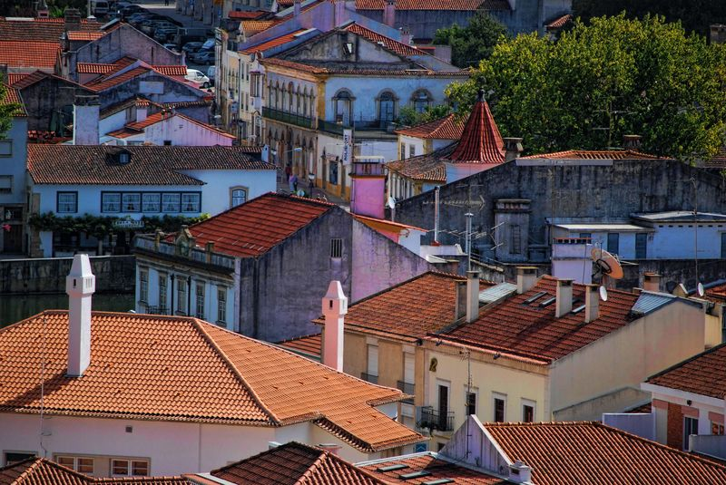Rooftops in the City of Tomar in Portugal
