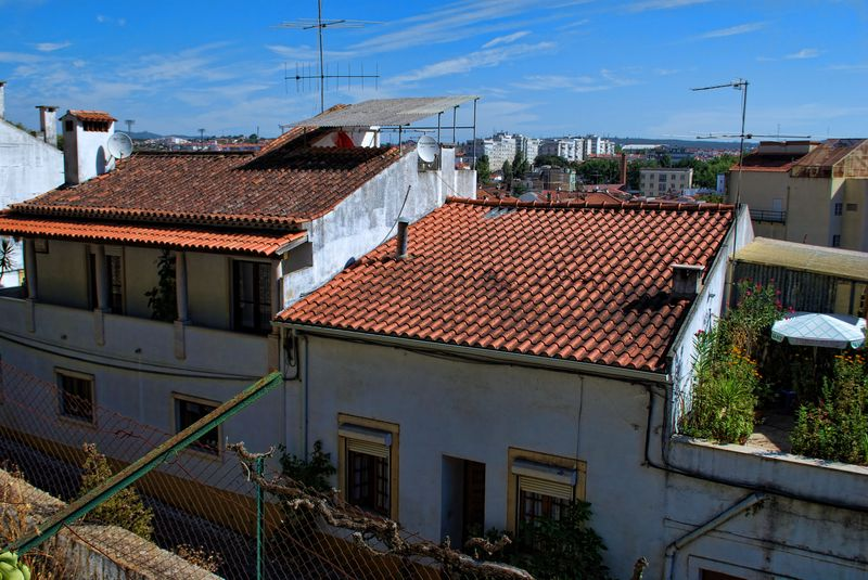 Rooftops from Seven Hills National Forest in the City of Tomar