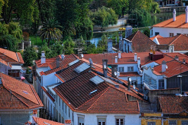 Rooftops shot from the Chapel of Senhora da Conceição in the City of Tomar