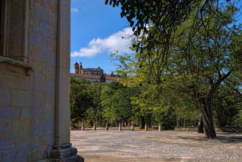 Christ Convent from the Chapel fo Senhora da Piedade in the City of Tomar