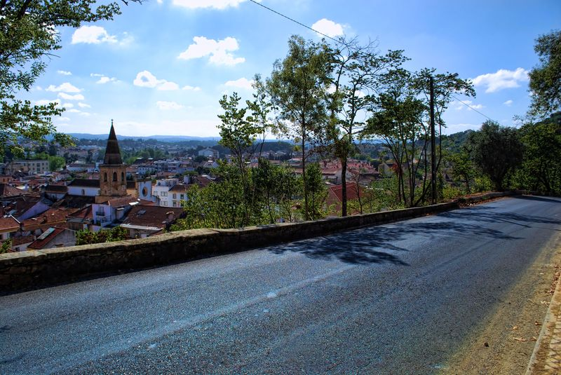 Road view of the historical Town of Tomar in Portugal