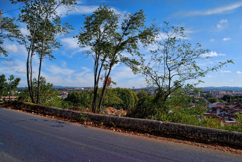 Panoramic view in the road to the Chapel of Senhora da Conceição in the City of Tomar