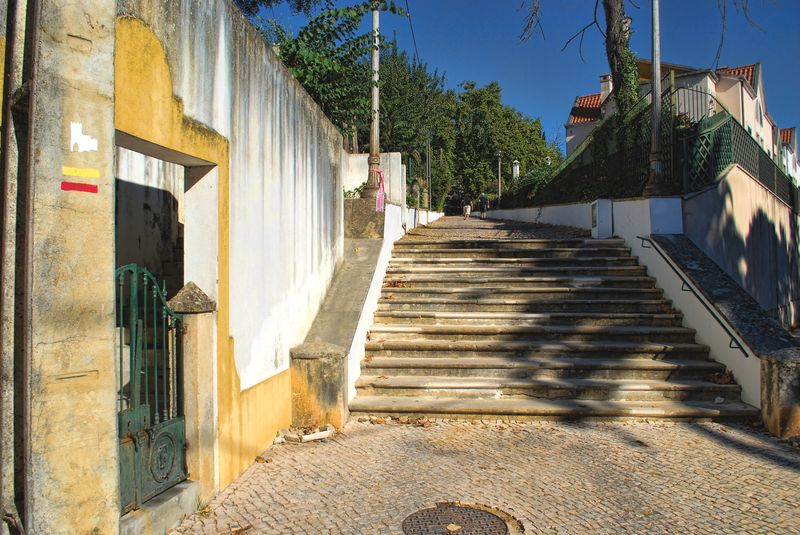 Monumental staircase up the hill to Senhora da Piedade, Tomar