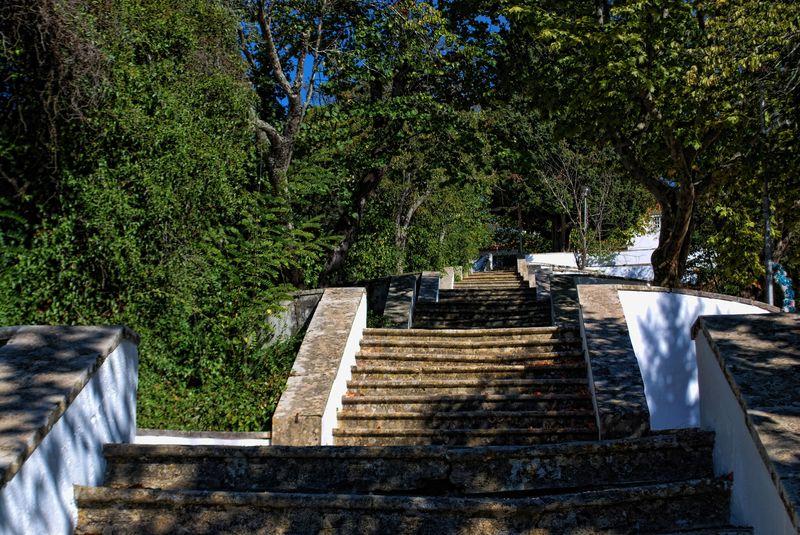 Stairway to the Chapel of Nossa Senhora da Piedade in the City of Tomar