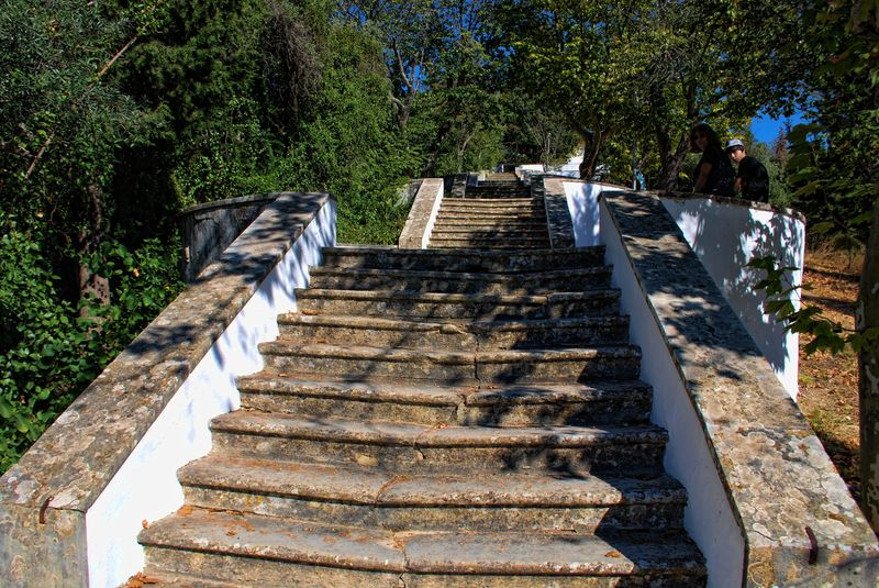 Stairway to the Chapel of Senhora da Piedade in Tomar, Portugal