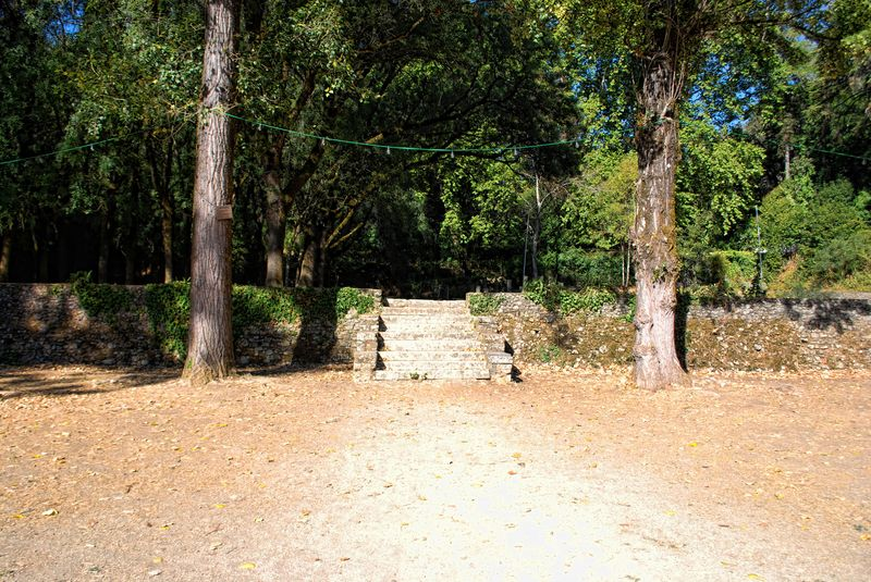 Empty ground at Seven Hills Forest in the city of Tomar in Portugal