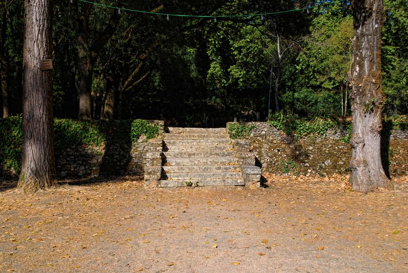 Staircase at the Seven Hills National Forest in the City of Tomar
