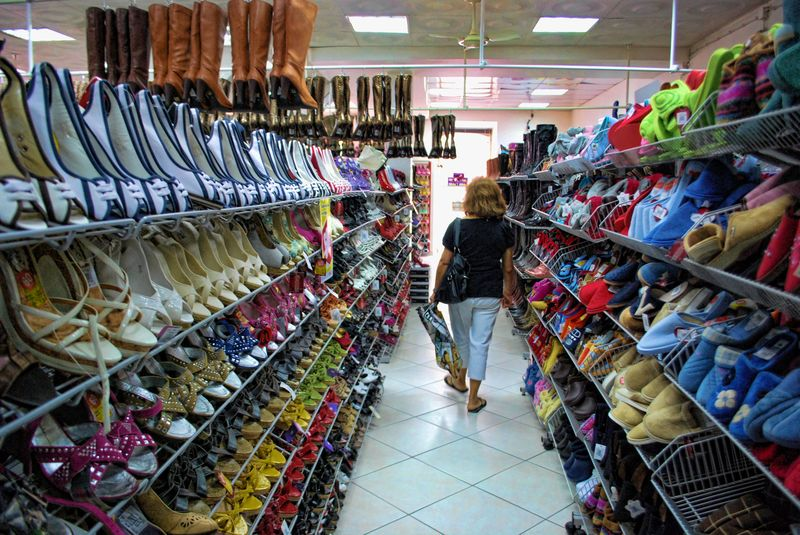 Shoe store at Avenida Nuno Álvares Pereira in the City of Tomar