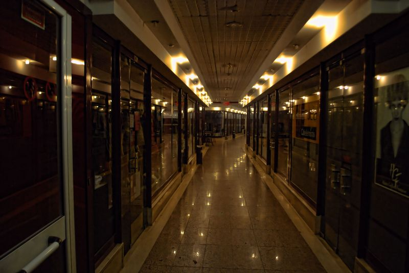 Shopping gallery at Avenida Cândido Madureira in the City of Tomar