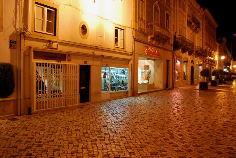 Shops at Rua Serpa Pinto in the City of Tomar