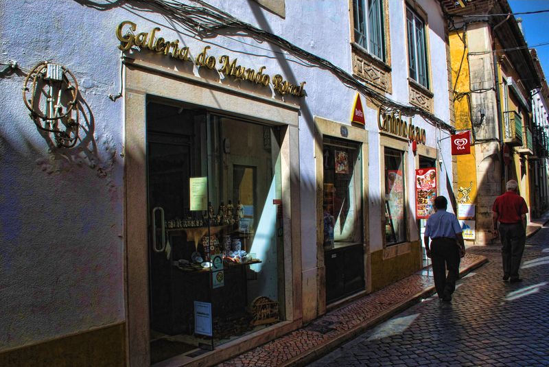 Shop of souvenirs and mementos in Tomar, Portugal