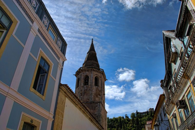 Bell tower of the Church of São João Baptista in the City of Tomar