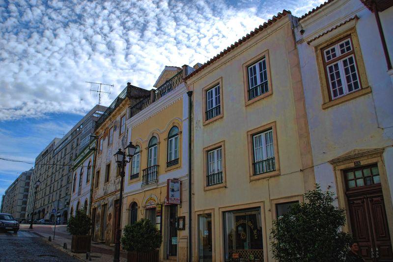 Sky of the City of Tomar at Rua Marquês de Pombal