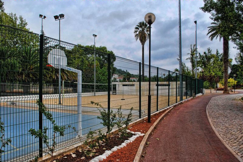 Basketball court at Mouchao Park in the City of Tomar in Portugal
