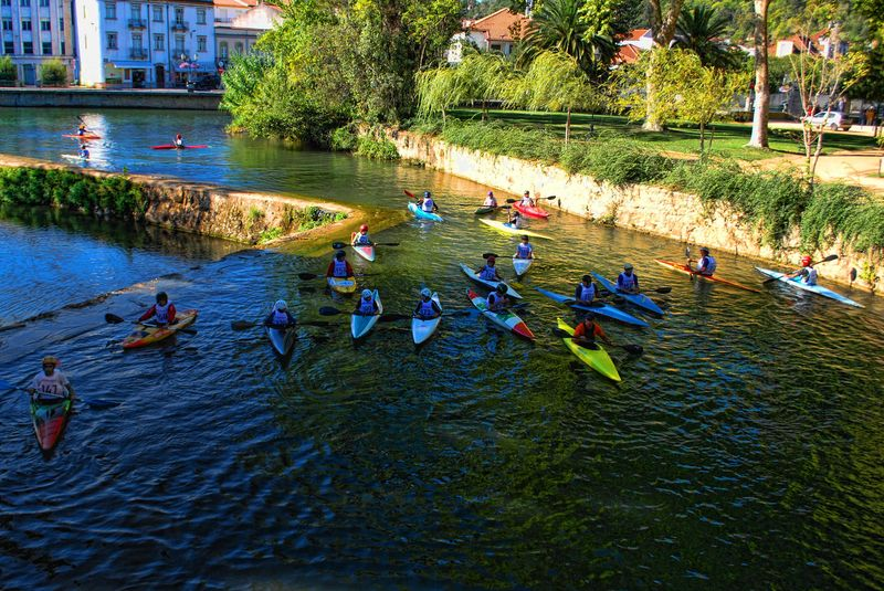 Canoeing in tomar, Portugal