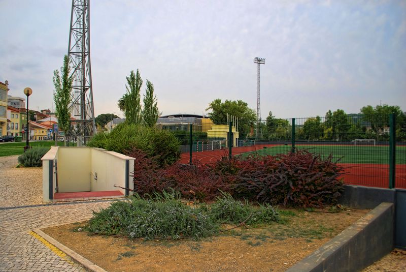 soccer field and sports pavilion in the City of Tomar
