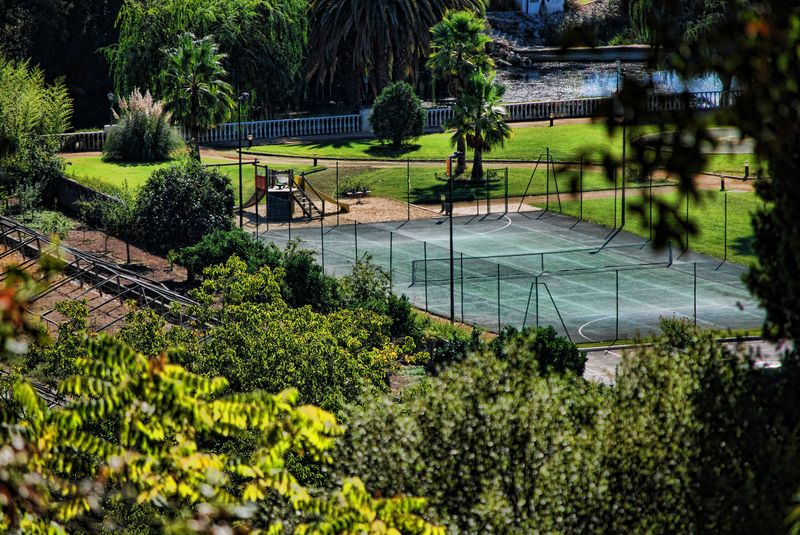 Tennis court in the City of Tomar in Portugal