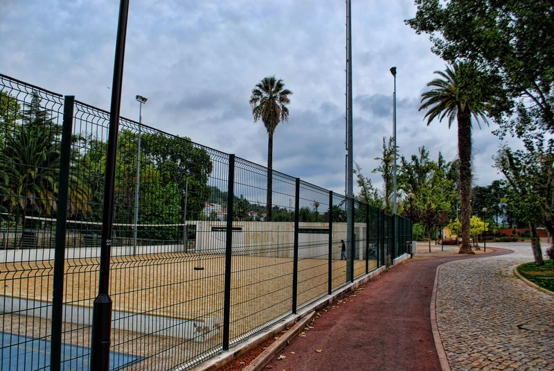 Volleyball beach court in the City of Tomar in Portugal