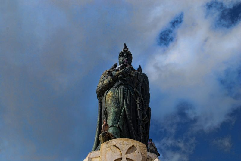 Statue of Gualdim Pais in the City of Tomar