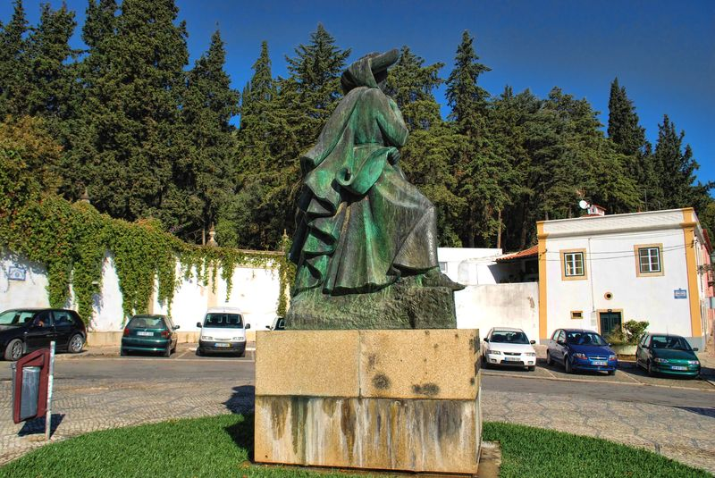 Statue of Henry the Navigator in Tomar the man who projected the Portuguese maritime expansion