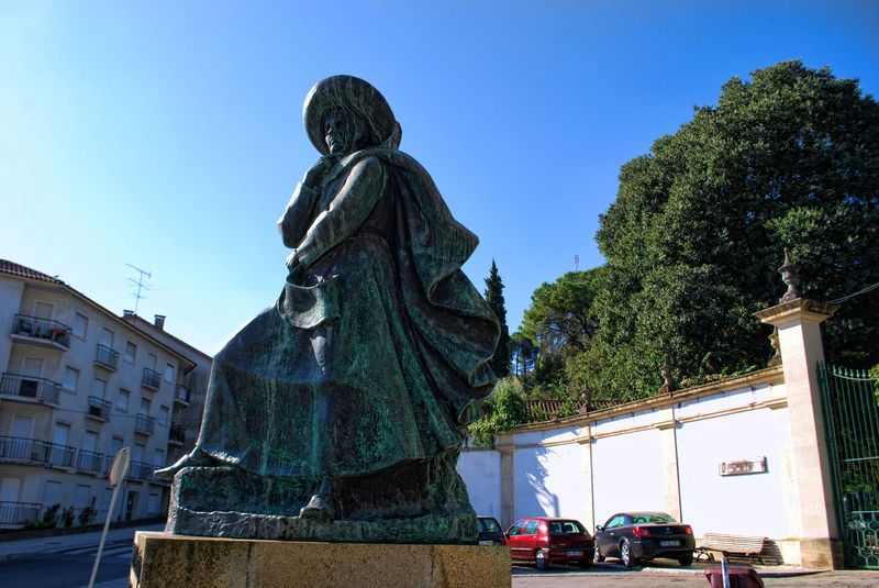 Statue of Infante Dom Henrique in the City of Tomar in Portugal