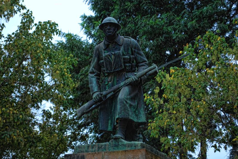 Statue of the Unknown Soldier in Tomar, Portugal