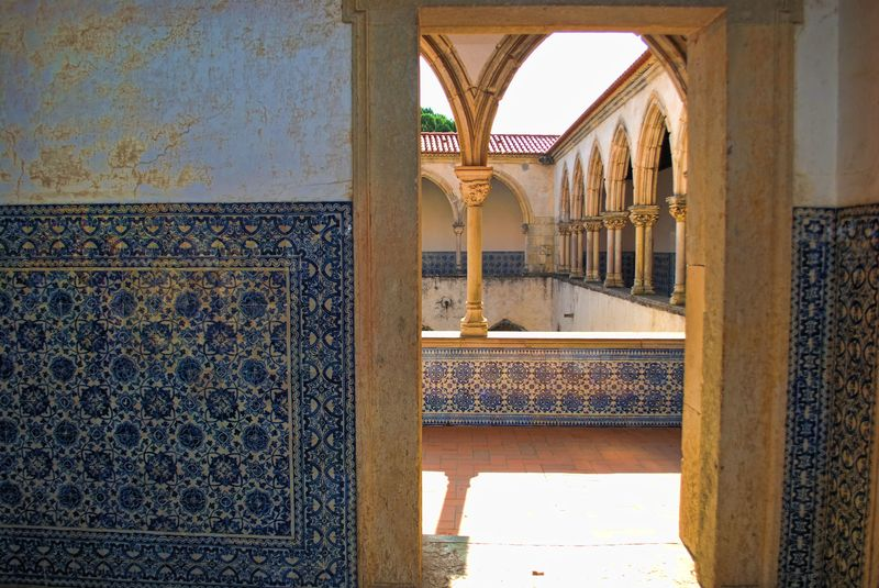 16th Century tiles at the Convent of Christ in the City of Tomar