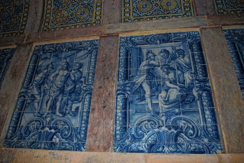 Artistic tiles at the Convent of Christ in the City of Tomar