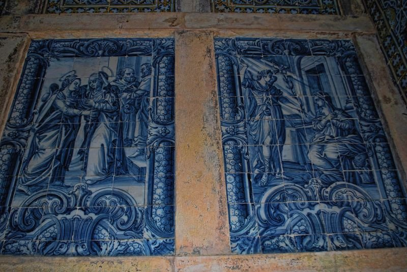 Tile paintings at the Christ Convent in the City of Tomar
