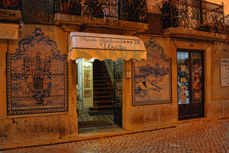 Tile paintings at Corredoura in the City of Tomar in Portugal