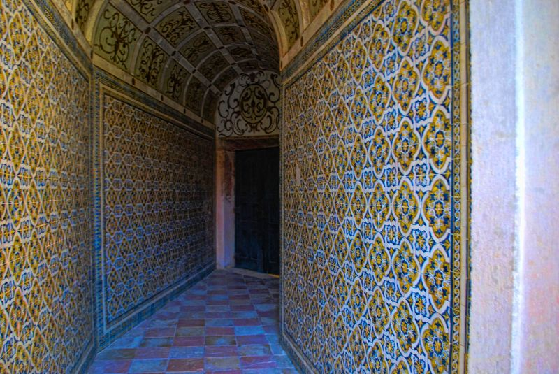 Tiled wall at the Convent of Christ in Tomar, Portugal