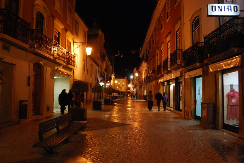 Corredoura at night in Tomar, Portugal