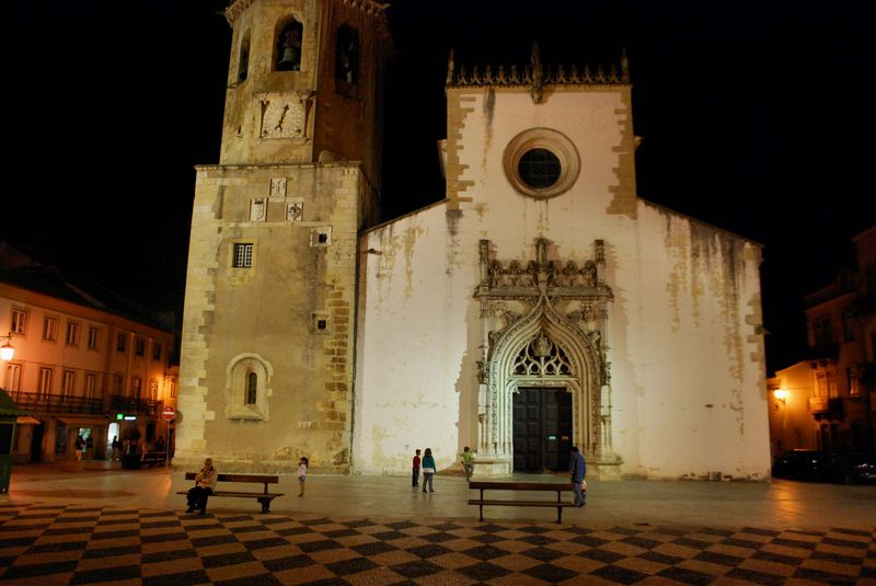 Illuminated Church of São João Baptista in the City of Tomar
