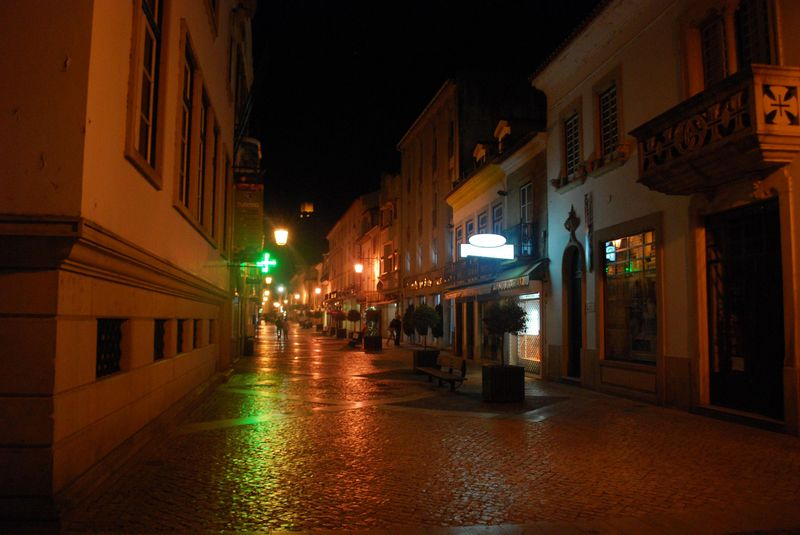 Nighttime at Corredoura in the City of Tomar in Portugal