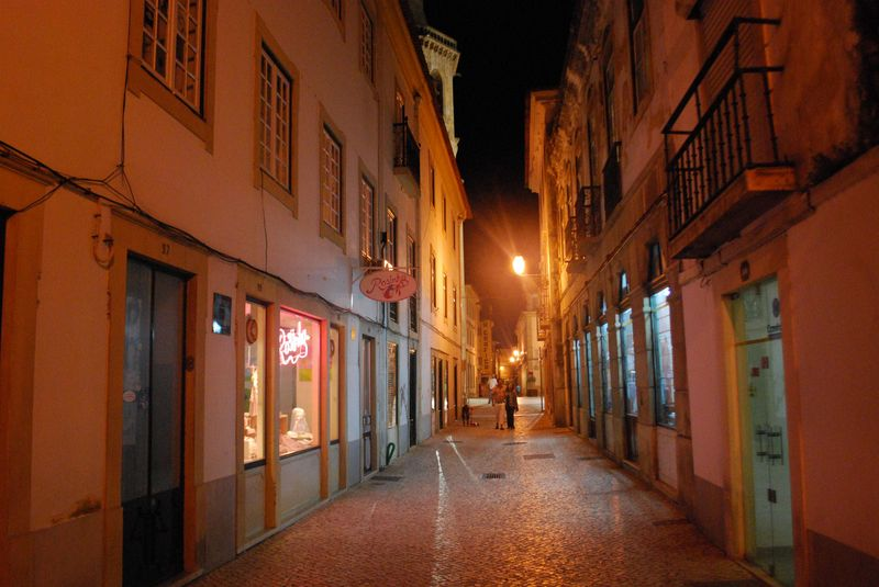 Nighttime at Rua Silva Magalhães in the City of Tomar