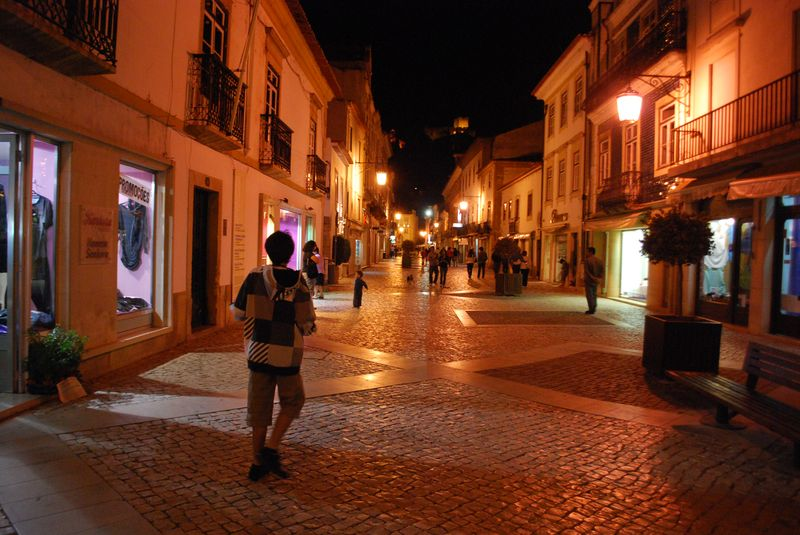 Rua Serpa Pinto in the City of Tomar in Portugal