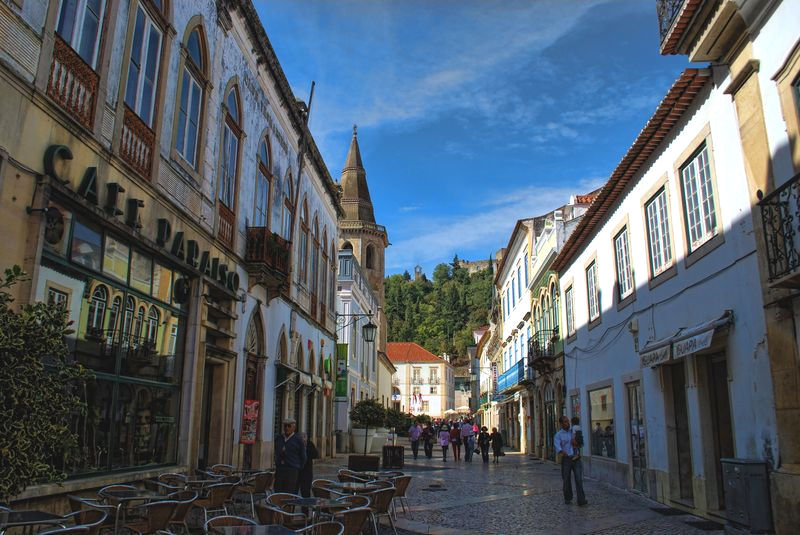 Café Paraíso at Corredoura in the City of Tomar in Portugal
