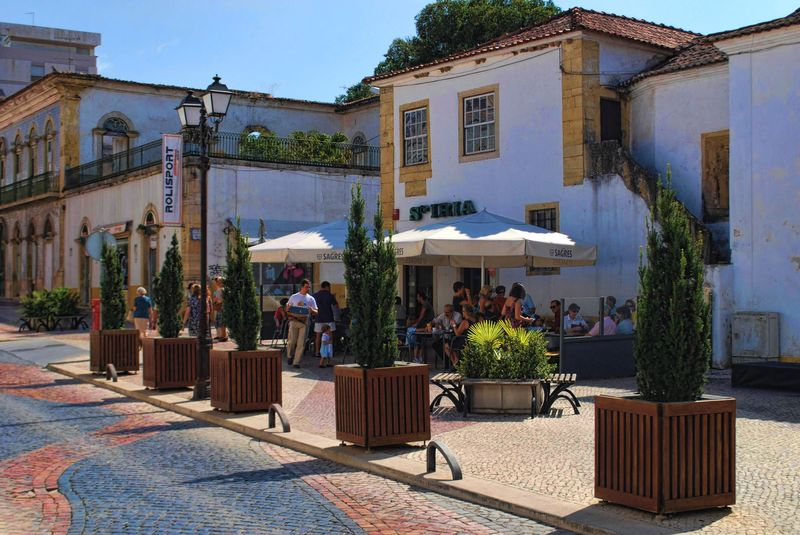 Café Santa Iria in the City of Tomar, Portugal