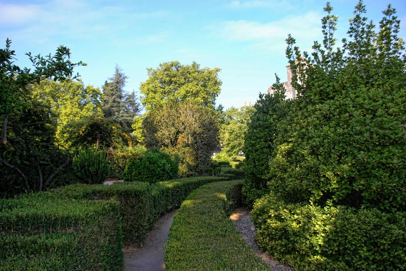 Garden inside the Castle of the Knights Templar in Tomar, Portugal
