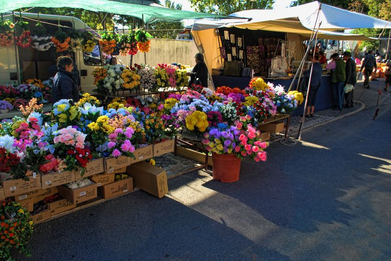 Flower stall at the market of Tomar