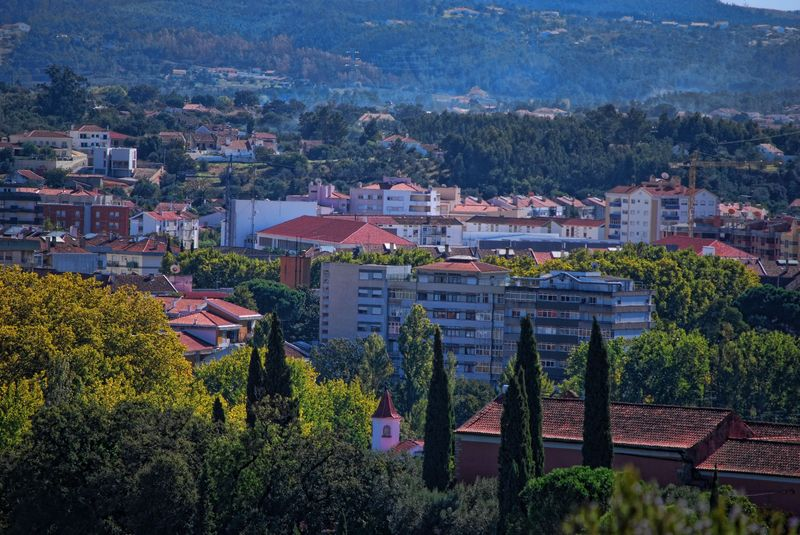 Panorama from Estrada de Leiria in Tomar, Portugal