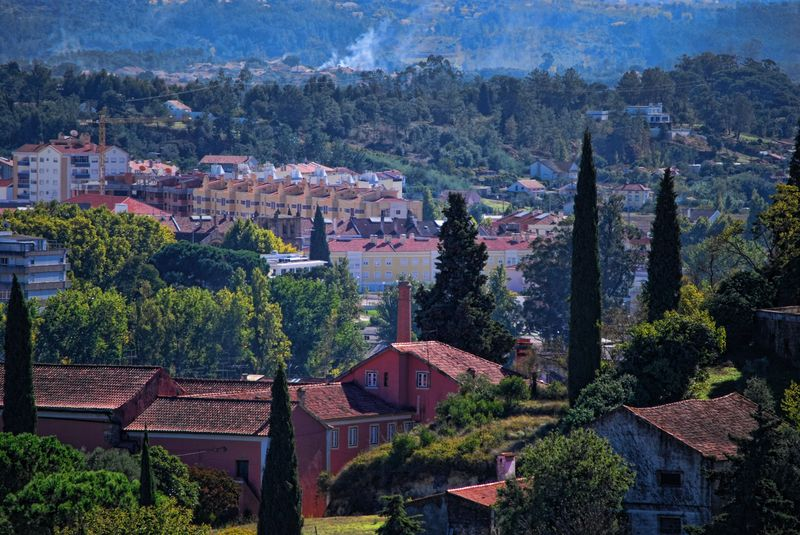 Panorama from Estrada de Leiria in the City of Tomar