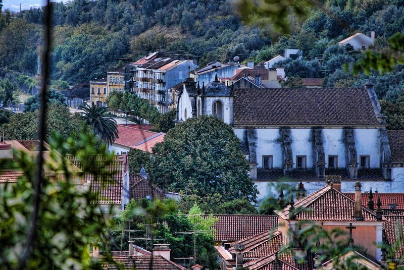 Panoramic view of Tomar in the area of Varzea Grande in Portugal