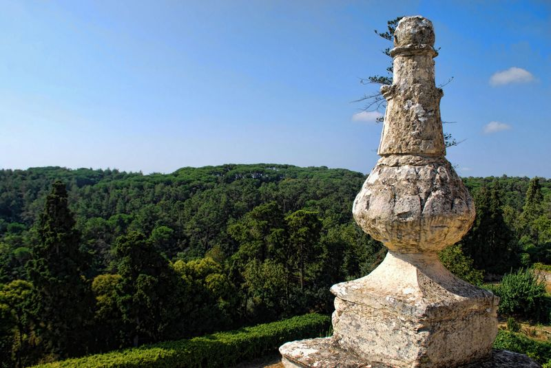 Panoramic view from the Convent of Christ in the City of Tomar
