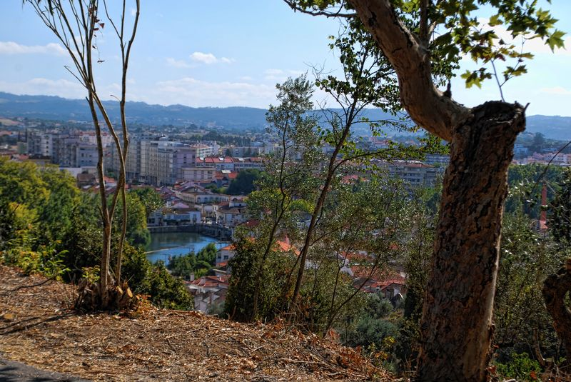 Panoramic view of Senhora da Conceição in the city of Tomar in Portugal