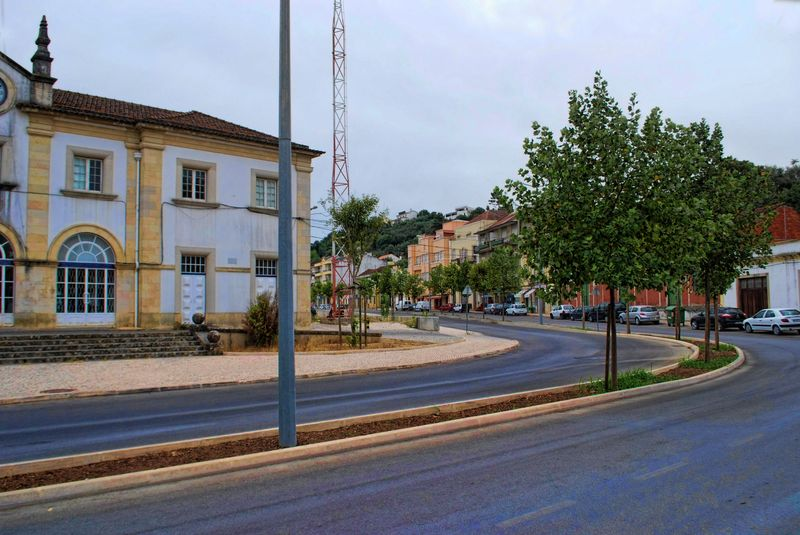 Antonio Fonseca Simões Avenue in the City of Tomar in Portugal