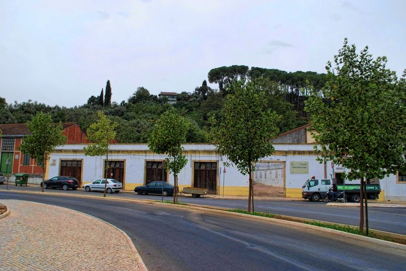 Avenida António Fonseca Simões in the City of Tomar in Portugal