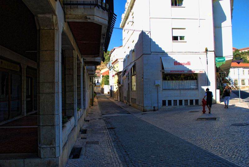 An old street called Rua do Camarão in the City of Tomar