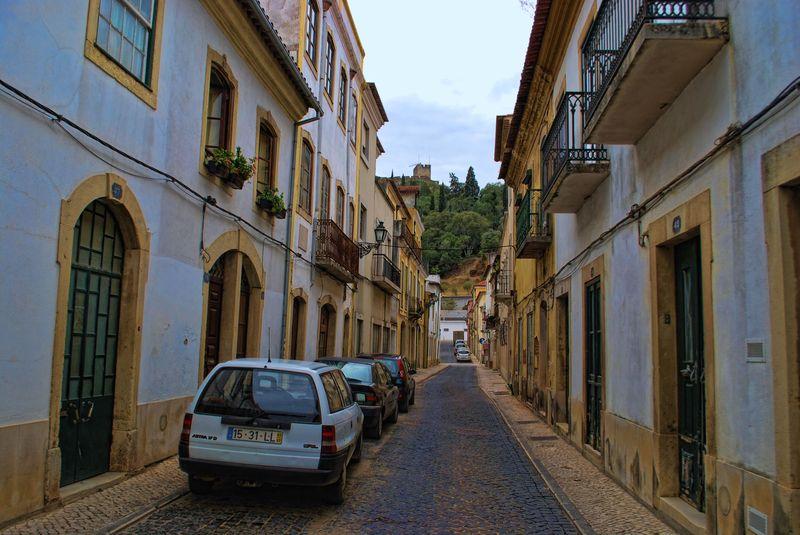 Rua Alexandre Herculano in Tomar, Portugal