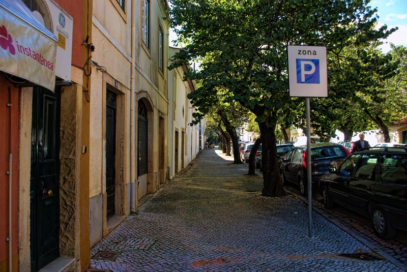 Rua dos Arcos in the City of Tomar in Portugal